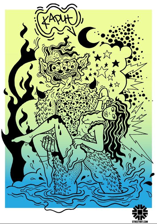 KAPUT X STREETART.COM Art Print