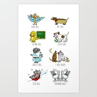 Know Your Dogs Art Print