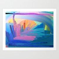 Interior Sunset Art Print
