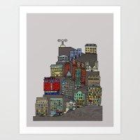 Townscape Art Print