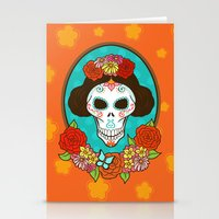 Day of the Dead Beauty Stationery Cards