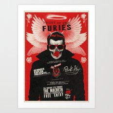 Night of the Furies - Gig poster Art Print