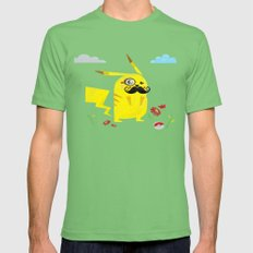 Pikachu Mens Fitted Tee Grass SMALL