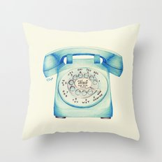 Rotary Telephone - Ballpoint Throw Pillow