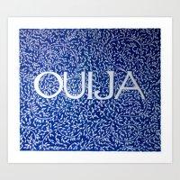 Ouija Blue Art Print