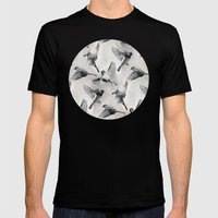 Sparrow Flight - Monochr… Mens Fitted Tee Black SMALL