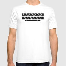 Captain's Keyboard White SMALL Mens Fitted Tee