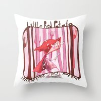 Little Red Potato Throw Pillow