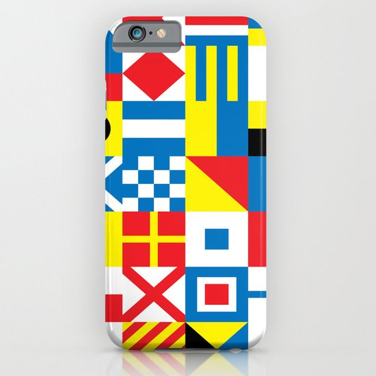 International Alphabetical Marine Signal Flags iPhone & iPod Case