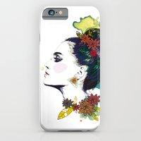 iPhone & iPod Case featuring Profile of woman Bun by Lorène Russo illustration