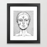 Acus-punctum Insecta (Self Portrait Looking in a Mirror) Framed Art Print