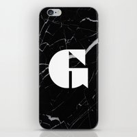 Black Marble - Alphabet G iPhone & iPod Skin