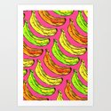 Banana pattern Art Print