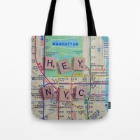New York City, NYC Map, … Tote Bag