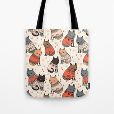 Sweater Cats - By Andrea… Tote Bag