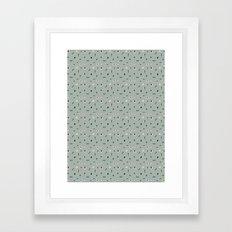 Kitchen Story Pattern Framed Art Print