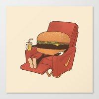 Canvas Print featuring Lunch Break. by Matt Leyen