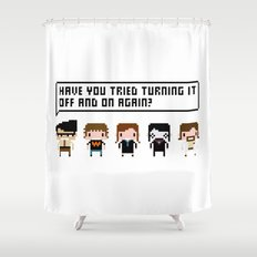 The IT Crowd Characters Shower Curtain