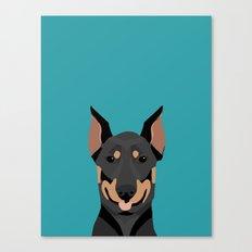 Doberman Dog Breed Dober… Canvas Print