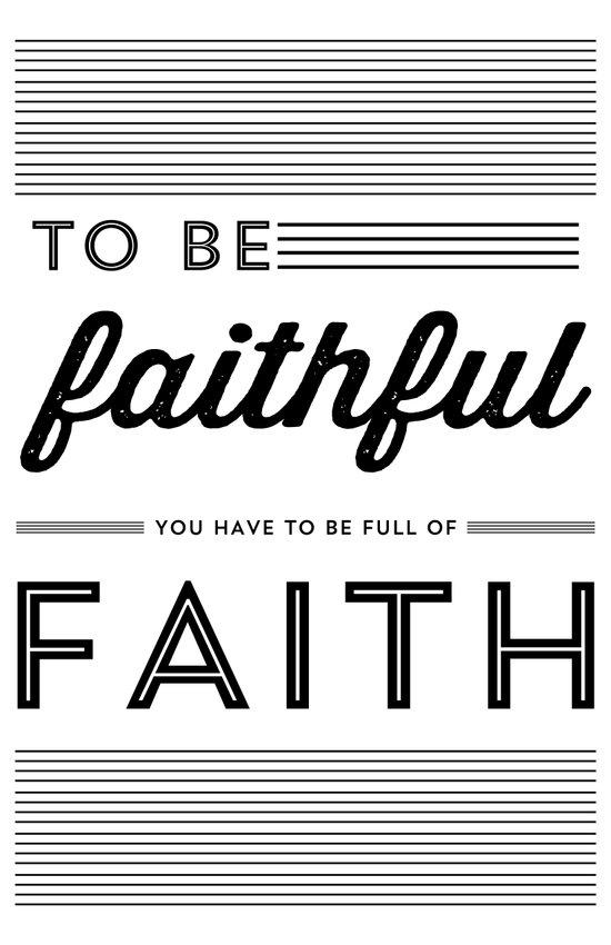 FULL OF FAITH Art Print
