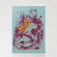 Death Blooms Stationery Cards