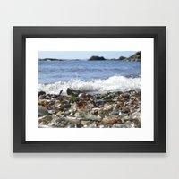 Glass Beach, California Framed Art Print