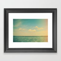 The Story Of Clouds Framed Art Print
