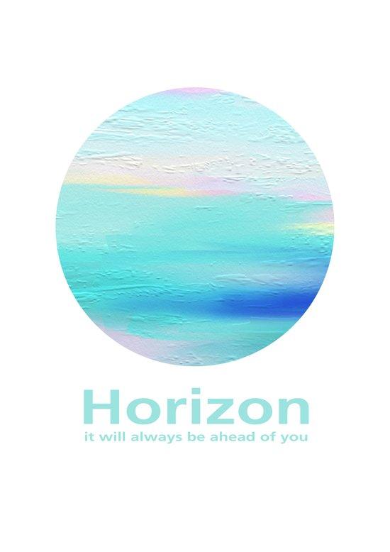 Horizon: it will always be ahead of you Art Print