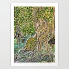 Mangrove Mermaid Art Print