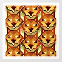 The Bold Wolf pattern Art Print