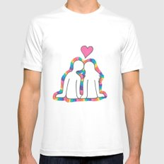 Valentines Day! Mens Fitted Tee SMALL White