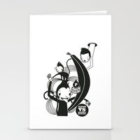 WARREN VS MONKEY BANANA Stationery Cards