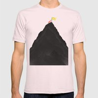 Man & Nature - To The Top Mens Fitted Tee Light Pink SMALL