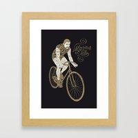 Monsieur Du Vélo Framed Art Print