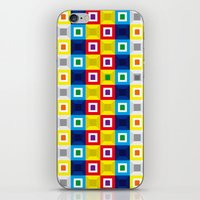 Squares Pattern iPhone & iPod Skin