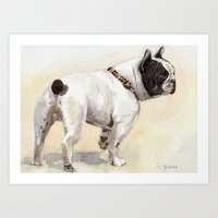 French Bulldog A050 Art Print