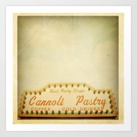 Cannoli Pastry Stand Art Print