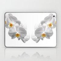 white orchid I Laptop & iPad Skin