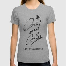 One and Only - San Francisco - Womens Fitted Tee Athletic Grey SMALL