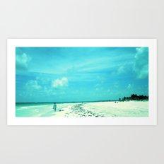 Platja Paradiso Art Print