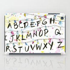 Stranger Things Alphabet Christmas Lights  iPad Case