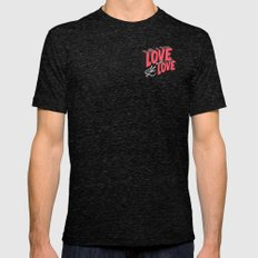 Love & Let Love Mens Fitted Tee Tri-Black SMALL