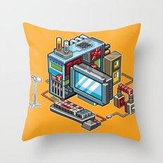8bit Computer Throw Pillow