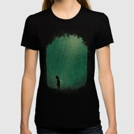 Fireflies Womens Fitted Tee Black SMALL