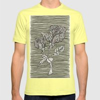 Rose Mens Fitted Tee Lemon SMALL