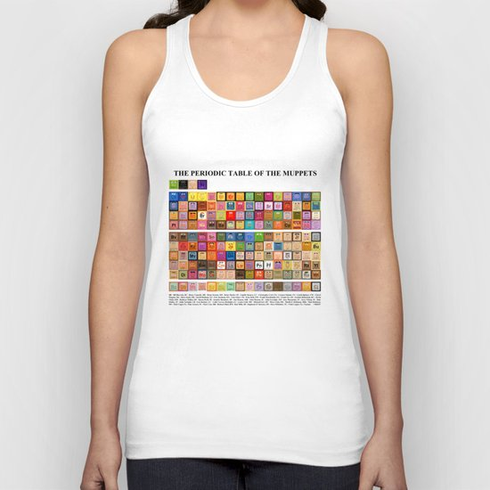 The Periodic Table of the Muppets Unisex Tank Top