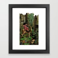 Deerlove | Collage Framed Art Print