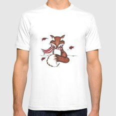 Holiday Fox SMALL White Mens Fitted Tee