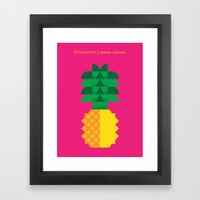 Fruit: Pineapple Framed Art Print