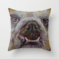 Bulldog Throw Pillow